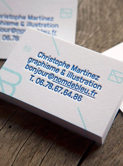 Cartes De Visite Impression Fleur Et Avec Dbossage Letterpress Business Cards With 2 Colors
