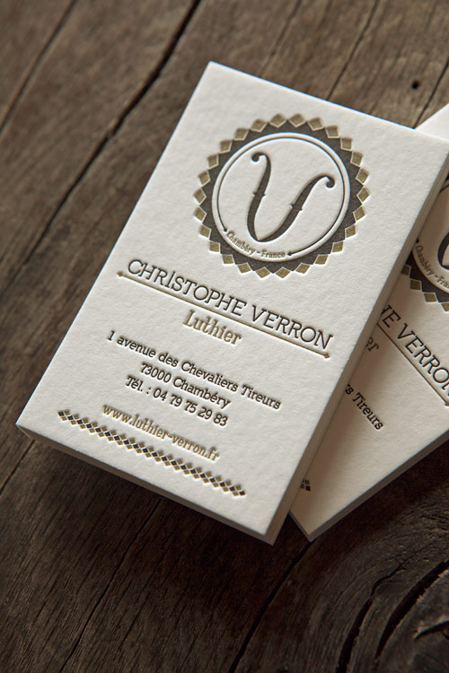 Cartes de visite 2 couleurs recto / letterpress business cards in two colors