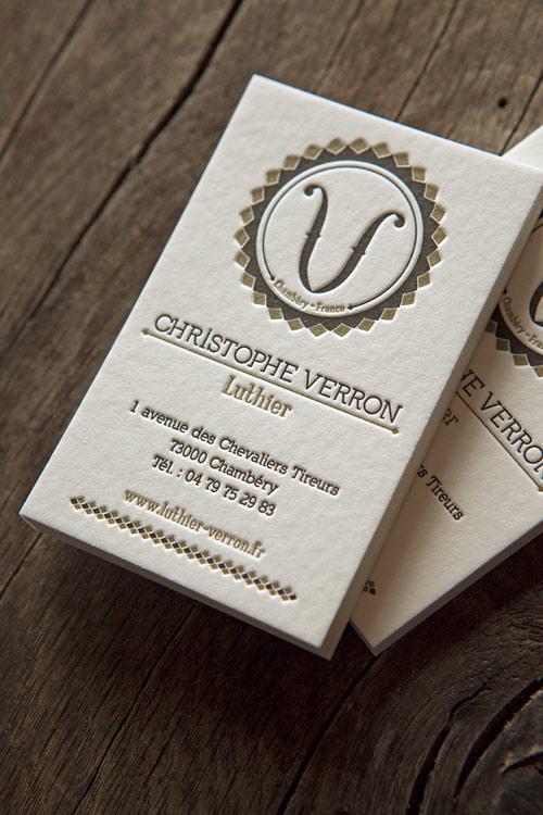 Cartes De Visite 2 Couleurs Recto Letterpress Business Cards In Two Colors