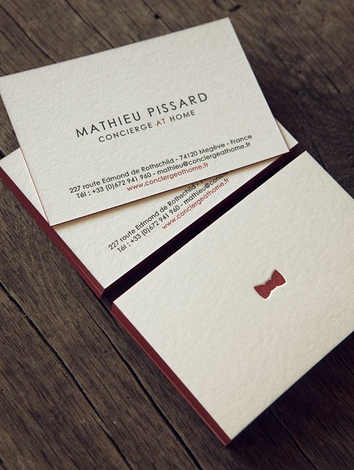 Cartes De Visite 2 Couleurs Recto Verso Sur Buvard 500g Letterpress Business Cards In Two
