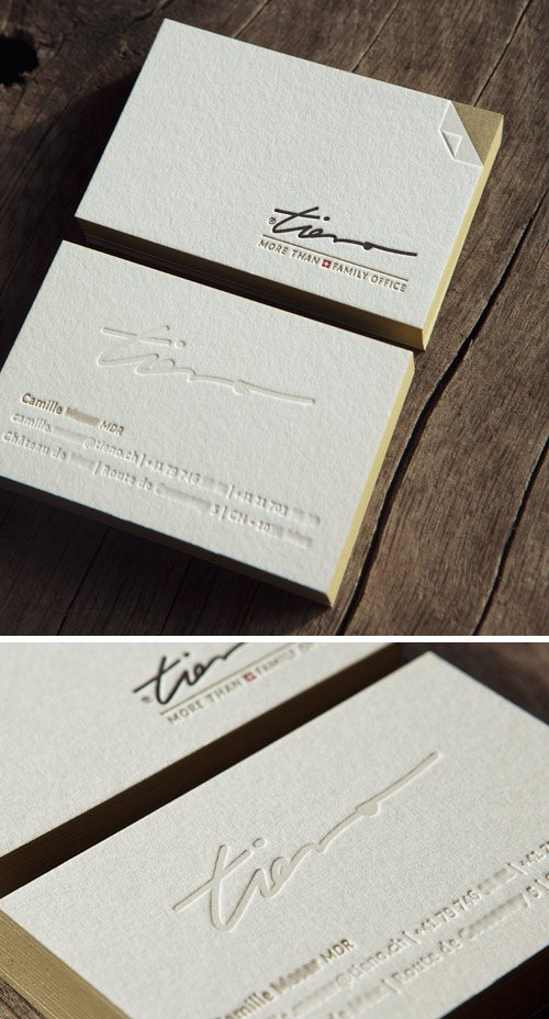 Cartes De Visite 4 Couleurs En Recto Verso Letterpress Business Cards Colors