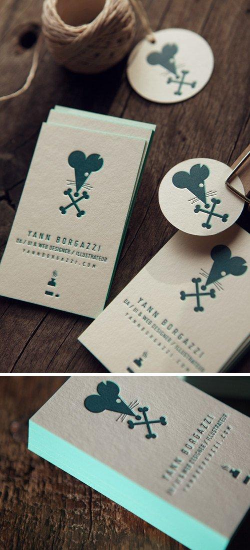 Cartes De Visite Letterpress Imprimees Par Cocorico Creation Graphique Yann Borgazzi Impression Recto