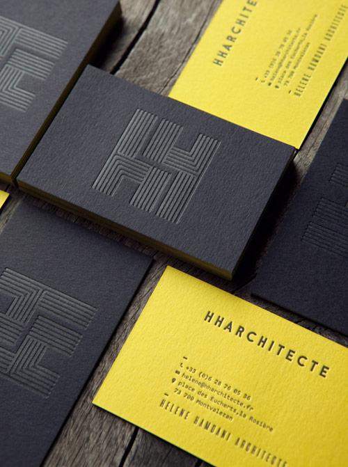 carte de visite letterpress couleur sur tranche duplex. Black Bedroom Furniture Sets. Home Design Ideas