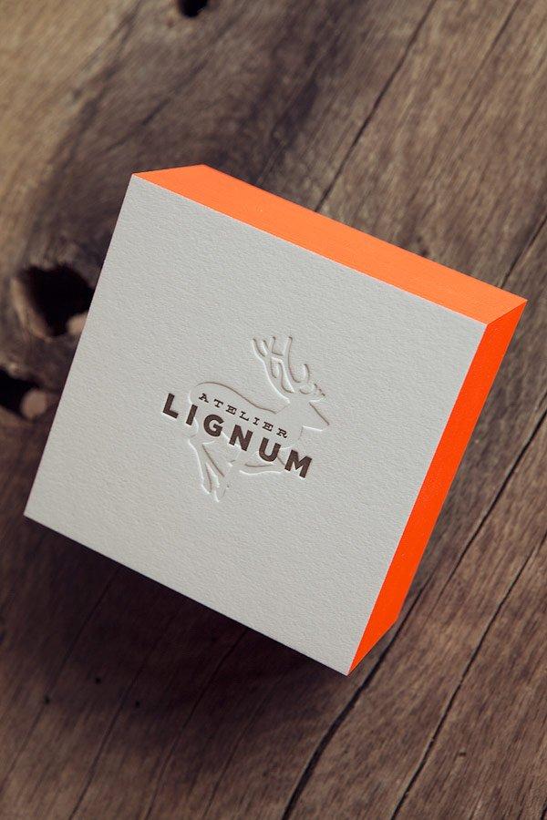Cartes De Visite Atelier Lignum Sur Papier Epais 100 Coton Impression Recto Verso 1
