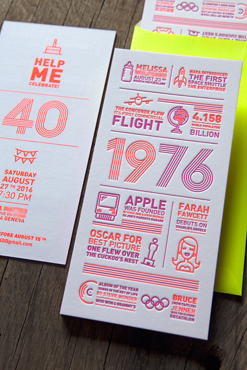 Connu Galerie letterpress faire-part naissance carte voeux visite DK33