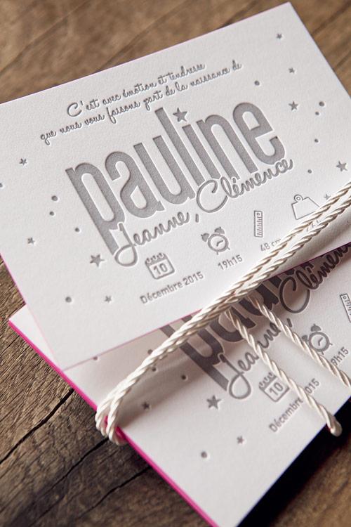 Populaire Galerie letterpress faire-part naissance carte voeux visite JB77