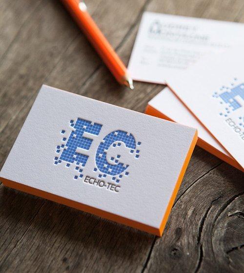 Carte De Visite En 2 Couleurs Imprimee Recto Verso Sur Papier Gmund Cotton Nuance Extra