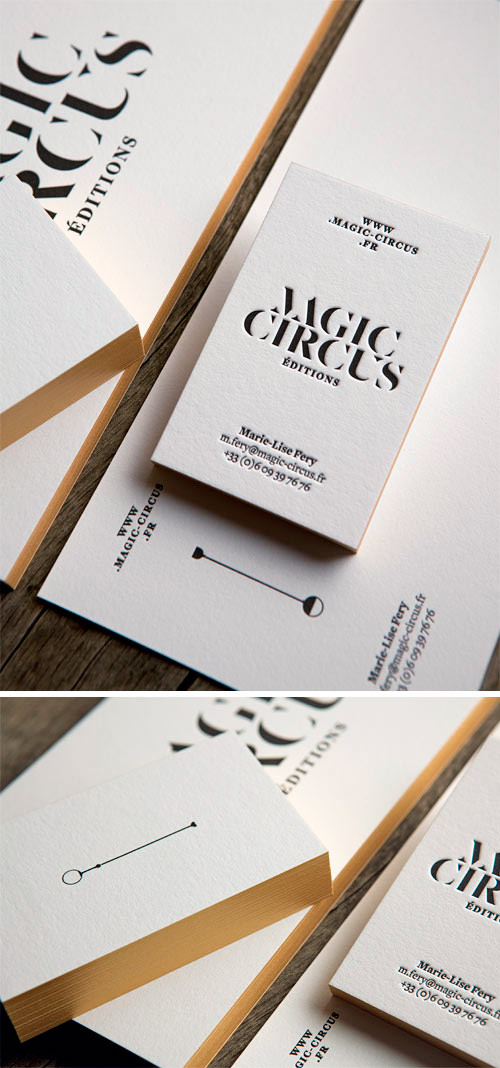 Ensemble papeterie pour Magic Circus Editions en papier pur coton / business stationery for Magic Circus Editions